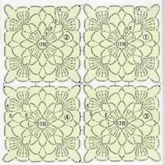 Pretty Lace Free Crochet Square Pattern. More Great Looks Like This