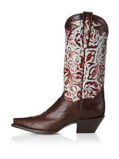 Dan Post Women's Rose Western Boot (Chocolate/Turquoise)