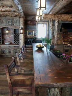 Beautiful wood bar...