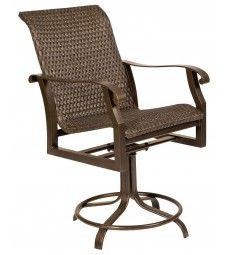Allen Roth Safford Safford Brown Aluminum Barstool Chair