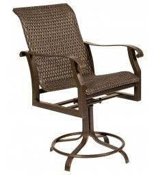 Allen Roth Set Of 4 Safford Swivel Sling Seat Aluminum