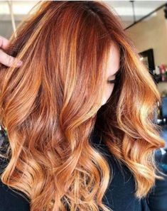 Apple Cider Hair Is The Prettiest Warm Color Trend For Fall - Page 2 of Red Hair With Blonde Highlights, Red Blonde Hair, Red Hair For Blondes, Red Hair Lowlights, Red Hair With Balayage, Caramel Hair With Blonde Highlights, Blonde Honey, Copper Highlights, Ash Blonde