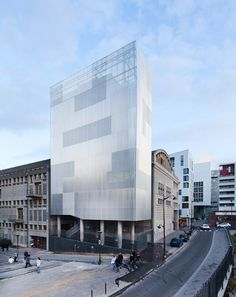 펀칭메탈 파사드 디자인 [ antonini darmon architects ] cultural + community tower, paris diderot university