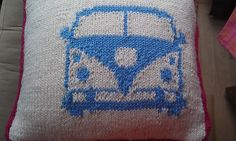 Ravelry: Project Gallery for VW Camper cushion pattern by Louise Butt