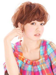 베리 귀여운 ~ 매쉬 ~ 쇼트 보브 ~ 파마 스타일 | 치바 미용실 HANA Hair produce 헤어 스타일 | Rasysa (다움)
