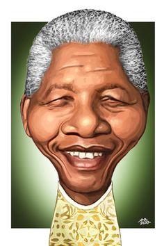 Nelson Mandela – Caricatura (1918 – 2013)