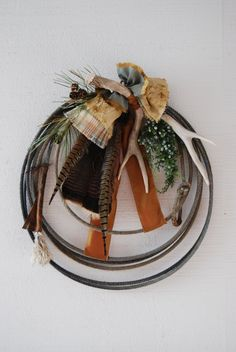 """Lariat Rope Wreath """" Country Spice """". $65.00, via Etsy."""
