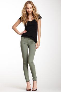 Obey Lean & Mean Vintage Dye Olive Green Skinny Jeans   Olive ...