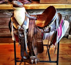 Colonel's collection includes many things including saddles - like this vintage Mexican Saddle. Another example of fine craftsmanship.