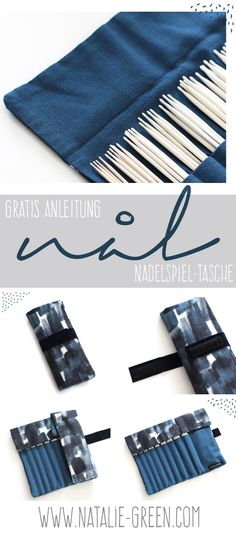 Kostenlose Anleitung - Nadelspiel-Tasche Kostenlose Anleitung - Nadelspiel-Tasche Record of Knitting Yarn spinning, weaving and sewing jobs such as for instance . Sewing Tools, Sewing Tutorials, Sewing Projects, Sewing Hacks, Diy Clutch, Clutch Bag, Crossbody Bag, Natalie Green, Reverse Braid