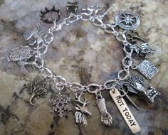 Inspired by Game of Thrones these charm bracelets tells your friends youre a number one fan. This offering has many fantastic GOT charms and