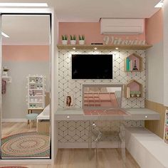57 Cozy Teen Girl Bedroom Design Trends for 2019 Small Room Bedroom, Girls Bedroom, Bedroom Decor, Unique Teen Bedrooms, Teen Bedroom Colors, Bedroom Rugs, Childrens Bedroom, Bedroom Lighting, Bedroom Ideas