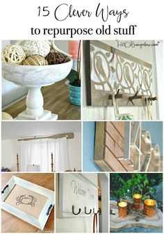 Clever ways to repurpose and upcycle old stuff. DIY project ideas to inspire you… Clever ways to repurpose and upcycle old stuff. DIY project ideas to inspire you to create new uses for old items into pretty and functional home decor. Easy Woodworking Projects, Woodworking Classes, Woodworking Wood, Diy Projects, Project Ideas, Youtube Woodworking, Woodworking Equipment, Diy Home Decor Bedroom, Diy Home Decor On A Budget