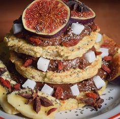 Omleciki z mąki kokosowej + Fit nutella + figi , goji , chia  Omleciki : 3 jajka  2 czubate łyżki mąki kokosowej 2 płaskie łyżki otrębów żytnich  50-70 ml wody ćwierć łyżeczki imbiru 1 płaska łyżeczka cynamomu #second #breakfast #omlet #omelette #fit #nutella #figs #chia #goji #banana #avocado #coco #cocoa #cinamon #ginger #love #dietfood #healthyfood #fruits #pumpkinseeds #linseed #superfood #yummy #loveit #foodporn #monday #yum #dieta #zdrowo #l4l