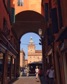 Wonderful #Bologna: Piazza Maggiore through the arcades - Instagram by 1step2theleft