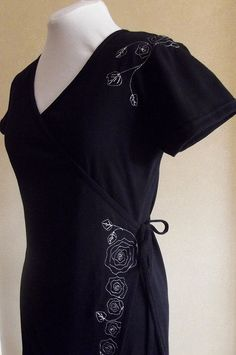 Very flattering cotton jersey wrap dress with by ClothingbyLahay