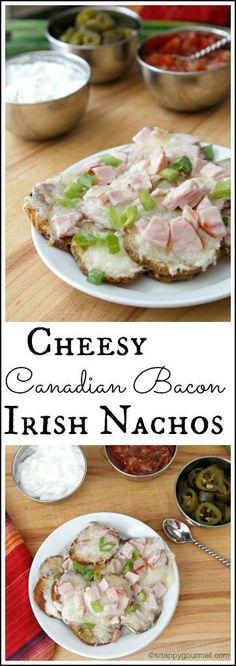 cheesy canadian bacon irish nachos cheesy canadian bacon irish nachos ...