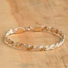 ronaldo two tone mix love knot bracelet