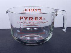 Pyrex 8 Cup Glass Measuring Cup     564        $28.97                3552 #Pyrex