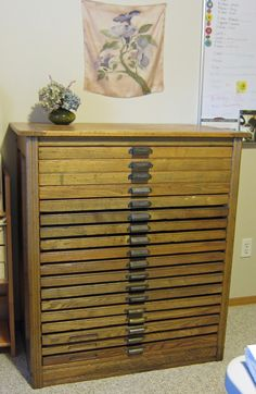 Printers Cabinet Sideboard Letter Press Storage | Living Room ...