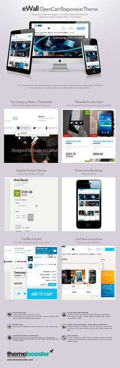eWall OpenCart responsive theme by ThemeBooster.com on @creativemarket