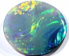 BLACK OPAL POLISHED STONE   11.90 CTS  TBO-258 Black Opals, Australian Opals