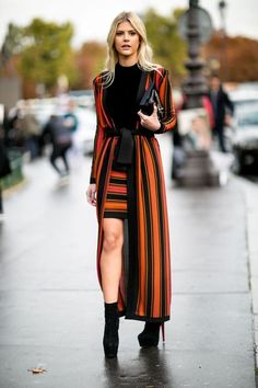 A nice and fashionable way to wear stripes.