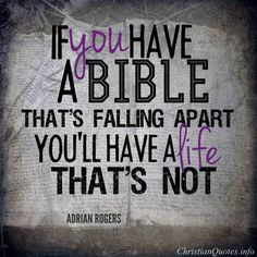 Adrian Rogers Quote – A Falling Apart Bible Bible Verses Quotes, Faith Quotes, Words Quotes, Scriptures, Adrian Rogers Sermons, Spiritual Quotes, Positive Quotes, Pastor Quotes, Falling Apart