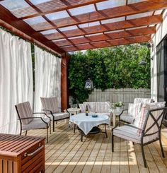 There are a plenty of pergola rain cover ideas, built with different materials. The Pergola Gazebo Canopy Covers are really effective to save you from rain and sun light while sitting under your outdoor living room. You may have pergola fabric rain c Diy Pergola, Building A Pergola, Pergola Curtains, Cheap Pergola, Outdoor Pergola, Wooden Pergola, Pergola Shade, Pergola Kits, Outdoor Decor