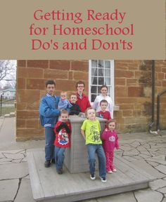 Getting Ready for Homeschool - http://thehappyhousewife.com/homeschool/getting-ready-for-homeschool-dos-and-donts/