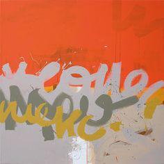 D 204 100 x 100 cm Acrylique sur toile Décembre 2010