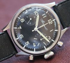Vintage Breguet Type XX Watch 38mm from 1960 for the French Navy