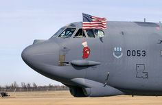 bomber tail number from the Bomb Wing, Barksdale Air Force Base, La. displays the American flag as it taxis out on a local training mission. Air Force Bases, Us Air Force, B52 Bomber, Strategic Air Command, B 52 Stratofortress, Bossier City, Nose Art, Aircraft Carrier, Military Aircraft