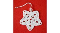 Horgolt függődísz (csillag) - Karácsonyi díszek