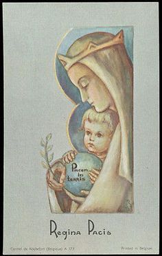old holy card***REGINA PACIS