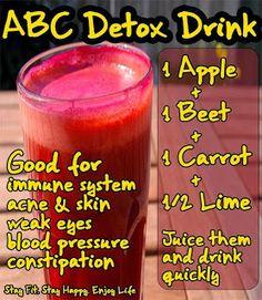 abc+1/2 lime detox drink