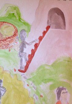 illustration for a Heiltsuk story