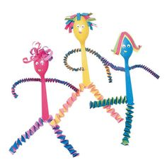 Springy Spoonfolk | Recycled Crafts Projects for Kids -- Recycling Crafts Gallery | FamilyFun