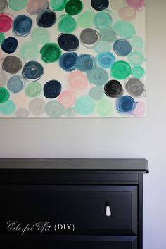 Colorful Canvas Art {DIY} | Two Delighted