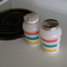 Rare Anchor Hocking Milk Glass Salt and Pepper Shakers. by Vintage Supplies and Housewares, via Flickr