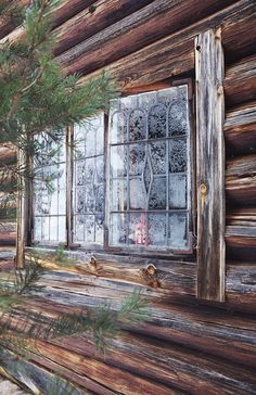 frosty lead glass cabin windows | architectural details