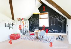 5 Ways to Get This Look: Playroom with a Chalkboard Wall