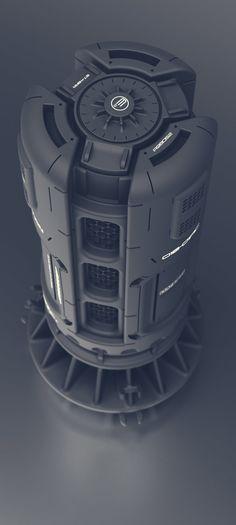 ArtStation - Sci-fi mini cooling unit, Quad Skill