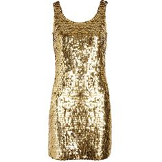 Moschino Paillette-embellished crepe mini dress ❤ liked on Polyvore