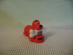 CLIFFORD The Big Red Dog plastic toy SCHOLASTICc measuring tool  vintage #Scholastic