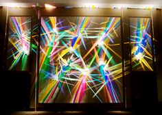 """""""Prism Party"""" Light Paintings by artist Stephen Knapp No one does reflections like Stephen Knapp. His light paintings are an entirely new art form. Carefully and artfully arranged prisms create dancing colors illuminating walls with saturated color. Orlando Museum Of Art, Lights Artist, Creators Project, Rainbow Glass, Colossal Art, Graffiti Styles, Light Painting, Light Art, Public Art"""