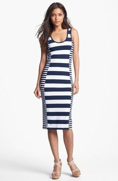 @Emily Triplett   check this out... French Connection Stripe Midi Tank Dress available at #Nordstrom