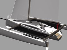 Trimaran Projects and Multihull News: Black Marlin 32' trimaran design by Jan Andersen build blog by Berthold Daum