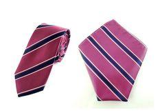 Mens 6cm Maroon Black White Stripes Skinny Tie with Pocket Square.