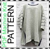 Ravelry: Machine knit. Big baggy tunic lagenlook style asymmetric hem top sweater 32 - 50 inch bustFrom beaknitting pattern by Bea Roberts